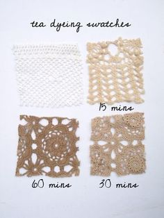 Dying fabrics with tea - gorgeous effect and its eco-friendly.