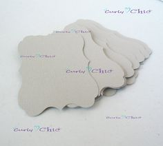 30 Rectangle Bracket Tags Size 3 1/4x2 1/4 In by CurlynChic, $3.80