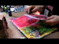 Dyan Reavely Art Journals With Her Ranger Dylusions Inks, Stamps, and TCW Stencils
