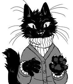 gotta calm down Animal Art, Art Drawings, Cat Art, Creature Art, Cute Art, Illustration Art, Art, Art Sketches, Cartoon Art