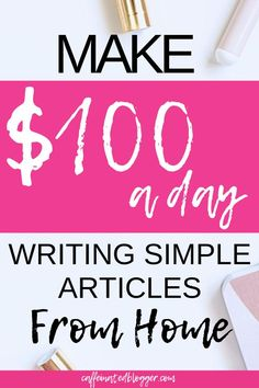 Written content is very much in high demand - every website and every blog needs content. And guess what? Not all bloggers have the time to write or like writing!  In this video I am going to show you how you can make money online writing articles from home for blogs or as a freelancer.
