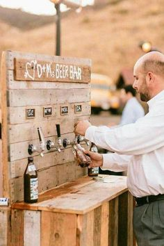Wedding reception beer bar