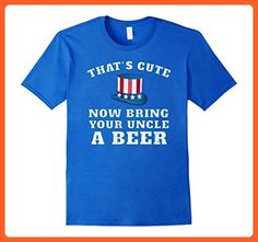 Mens Bring Your Uncle A Beer USA Funny T Shirt Large Royal Blue - Relatives and family shirts (*Partner-Link)