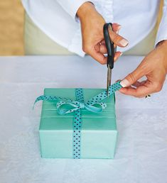 How to wrap gifts like a pro. Tips from UK-based gift stylist Jane Means.