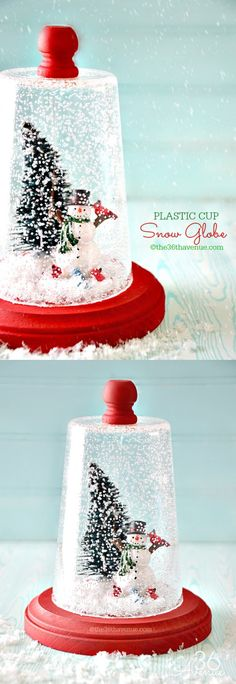 Christmas Gift Idea - Super cute DIY Snow Globe. Pin it NOW and make it LATER!