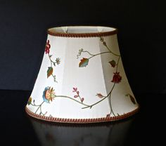 Embroidered silk oval lampshade by Lampshadesetc on Etsy