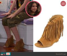 Riley's fringed ankle boots on Girl Meets World.  Outfit Details: http://wornontv.net/44123/ #GirlMeetsWorld