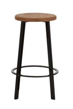 Replica Deja-vu Counter Stool Black with Wood Top -- The Deja Vu counter stool was created by Naota Fukusawa in 2005.   Our replica Deja Vu bar stool is made from steel and comes in a black powder coat finish with a wood seat.  Suitable for both commercial and home applications, this funky bar stool will suit white kitchens with wooden floorboards in a natural finish.  The 66cm seat height is perfect for Kitchen Benches and Island Benches that are around 90cm High.   --149.0000