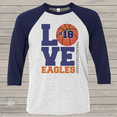 Zoey's Attic Personalized Gifts, is your number one source for personalized gifts. We specialize in custom T shirts and gifts for the whole famiy! Sports Mom Shirts, Basketball Mom Shirts, Love And Basketball, Custom Basketball, Softball, Raglan Shirts, School Shirts, Sport T Shirt, Cute Shirts