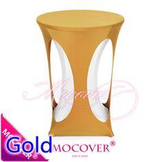 Ouro lycra mesa de bar, Mesa lycra para casamento, Banquete e festa decoração de mesa alishoppbrasil