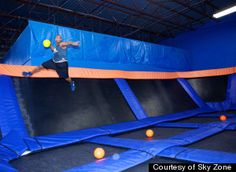 Trampoline Dodgeball? Yes, please.