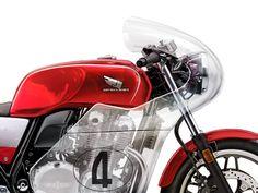 Honda Vetro by Tamás Jakus, via Behance Honda Bikes, Honda Motorcycles, Motorcycle Art, Motorcycle Design, Honda Cb1100, Cafe Racer Magazine, Touring Bike, Car Detailing, Bobber