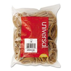 Rubber Bands, Size 30, 2 X 1/8, 275 Bands/1/4lb Pack