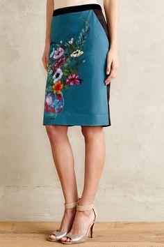Emerald Garden Pencil Skirt - anthropologie.com