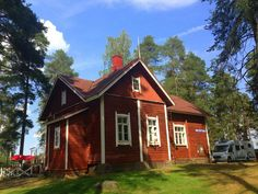 Toivolansaari Camping, Ikaalinen, Finland House Landscape, Small Towns, Beautiful Landscapes, Trekking, Finland, Countryside, Camping, House Styles, Campsite