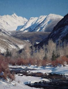 """Gore Creek"" by Matt Smith Oil ~ 21"" x 16"""