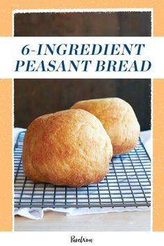 This peasant bread yields soft and fluffy loaves without any kneading and, as a bonus, is much easier to make than sourdough. #bread #peasantbread #homemadebread Cooking Bread, Bread Food, Vegan Bread, Cooking Food, Easy Cooking, Bread Baking, Unique Recipes, My Recipes, Cooking Recipes