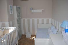 Baby Bedroom, Baby Boy Rooms, Nursery Room, Bedroom Decor, E Room, Kids Room, Ideas Habitaciones, Stripped Wall, Baby Furniture