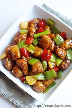 Authentieke zoete en zure varkensvlees recept dat is beter dan uw favoriete Chinese restaurants. |  rasamalaysia.com