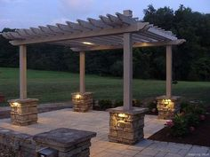 Pergola Videos With Roof DIY - Pergola Tuin Douglas - Pergola Designs Metal - Corner Pergola DIY Patio - Pergola Terrasse Fleurie Diy Pergola, Garden Design, Diy Garden, Pergola Lighting