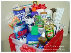 gift basket for anybody moving into a new home or their first place
