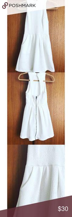 White open back white dress White open back white dress silence + noise Dresses Mini