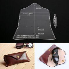 GBP - Acrylic Leathercraft Template Pattern For Glasses Case Bag Handmade Diy & Garden