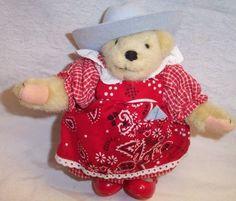 Amazon.com: North American Bear Muffy Vanderbear Wild West dressed as The Littlest Cowpoke: Toys & Games