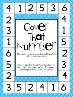 Cover That Number FREE Dice Game Seniors Would Like This At The Nursing Home