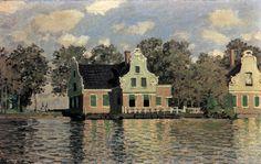 Houses on the Riverbank in Zaandam // MONET, Claude (b. 1840, Paris, d. 1926, Giverny)