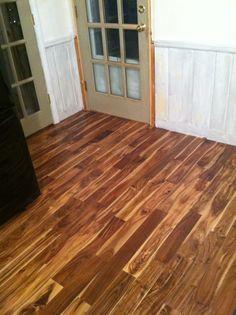 love the acacia wood floors