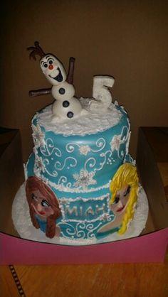 Frozen theme Custom made cake!