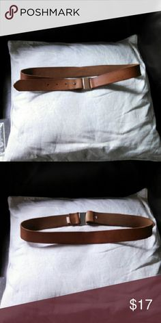 Gap belt Reposh: nice gap belt. Bought it on poshmark and I love it, but it doesn't really fit me. Would fit a size 2/4 and I'm a 6. Chestnut or saddle color. GAP Accessories Belts