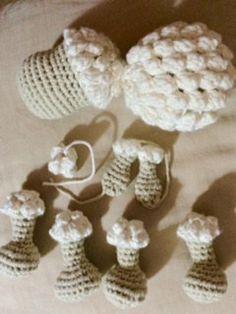 Patrones amigurumi, crochet, punto, manualidades - Creative and Craft Crochet Diy, Learn To Crochet, Baby Crafts, Diy And Crafts, Patron Crochet, Ramadan Decorations, Crochet Patterns Amigurumi, Crochet Projects, Sheep