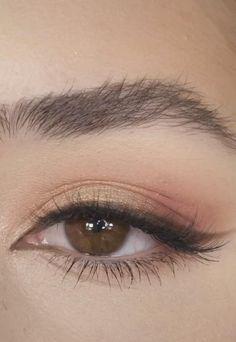 Eyebrow Makeup Tips, Eye Makeup Steps, Makeup Eye Looks, Eye Makeup Art, Skin Makeup, Eyeshadow Makeup, Eyebrow Pencil, Hooded Eye Makeup, Green Eyeshadow