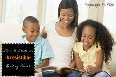 4 Tips on Creating an Irresistible Reading Corner. {Playdough to Plato}