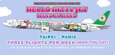 Fly from Paris to Taipei on the Hello Kitty Jet