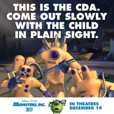 Careful Could Be Contaminated The Child Detection Agency Monster Inc Party Family Movie Night Monsters Inc University