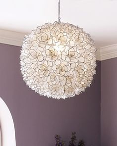 Capiz-Shell Pendant Light from Horchow on Catalog Spree, my personal digital mall.
