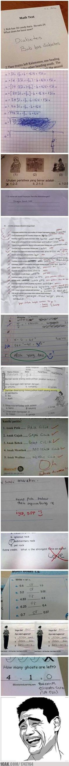 Macam-macam jawaban siswa, duh gusti..