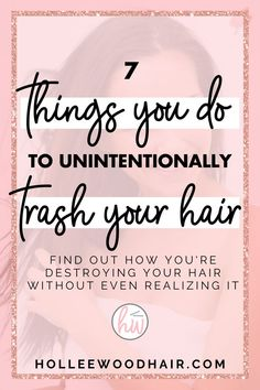 There are 7 things you're doing every day that are just trashing and destroying your hair.  Do you know what they are? Find out how to prevent hair damage and grow healthy hair with this guide! #HairDamage #HairTips #HairHacks #HealthyHair