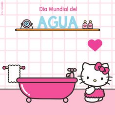 On the World Water Day, divulge this small, if very important Hello Tip: Do not delay more than 3 minutes in the bathroom and to soap, always close the shower key (this is also true when washing your hair) ! Sanrio, World Water Day, Hello Kitty Wallpaper, New Friends, Diy And Crafts, Soap, Bathroom, Dates, Shower