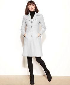 Nine West Coat, Wool-Blend Seamed Walker on shopstyle.com