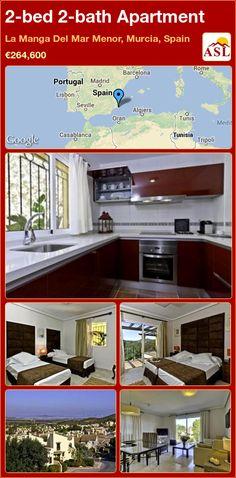 2-bed 2-bath Apartment in La Manga Del Mar Menor, Murcia, Spain ►€264,600 #PropertyForSaleInSpain