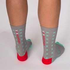 Raise awareness of professional women's cycling and pedal away wearing exclusive Voxwomen socks!  The new mint green, grey, red and white socks have been manufactured in Italy and have been created with a high quality yarn blend with a breathable open-mesh foot bed. The socks also have a cuff of 15cm in length making them a stylish option for any cycling fan.  This is a one size fits most sock (size 36-42).