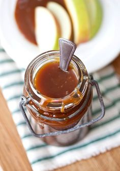 Homemade Caramel Sauce- it is not as scary as it seems, and is way better than the stuff you buy in the store.