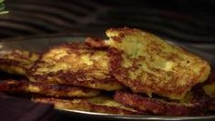 Ginger and green onion add zip to Guy's sweet Plantain Pancakes. Bobby Flay Recipes, Chef Recipes, Wine Recipes, Food Network Recipes, Plantain Pancakes, Dominican Food, Dominican Recipes, Guy Fieri, Chicken Wing Recipes