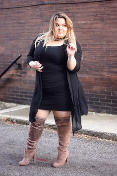 These thigh high boots from fashion to figure fit wide calfs and thighs, perfect for a plus size fashionista. Check them out on NatalieintheCity.com!