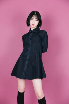 Get your Korean fashion clothes from mixxmix English website. International shipping is available for the latest and trendy Korean fashion style. Female Modeling Poses, Female Poses, Japanese Fashion, Asian Fashion, Girl Fashion, Female Pose Reference, Pose Reference Photo, Fashion Poses, Fashion Outfits