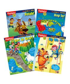 Take a look at this Puzzle Buzz Four-Piece Activity Book Set on zulily today!